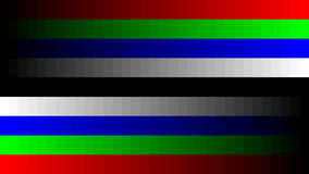 8K 7680x4320 TV RGB gradient television test pattern to adjust the screen, tint 0-255 Stock Photos