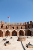 Kizil Kule (Red Tower) in Alanya. Turkey royalty free stock photo