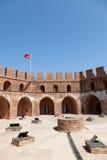 K? z? l Kule (Rode Toren) in Alanya. Royalty-vrije Stock Foto