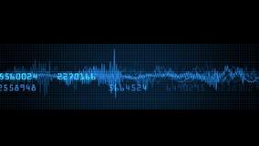 4k zaopatrują rynków gospodarczych dane ceny liczby rynku trendu analizy pulsu tempo ilustracja wektor