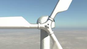 4k zbliżenie wiatraczek turbina Czyści, zieleni Wiatrowa energia, nowa władza zbiory