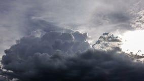 4K Zeitspanne von raincloud stock video