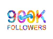 900K zwolennicy Dziękuje Ciebie! royalty ilustracja