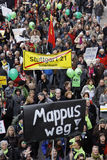 K21 demonstration - MAPPUS - Stuttgart Stock Photography