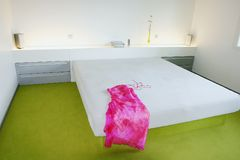 K33 bedroom. Photo Ales B. Ivanko a bedroom in a modern building Stock Photo