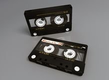 K7, Plastic, Magnetic Tape, Black Stock Images