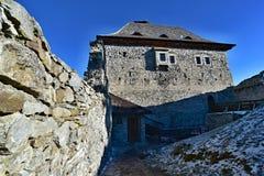 The Kašperk castle courtyard. The Kašperk castle - Czech republic - EU royalty free stock photos