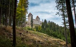 Kasperk castle, It is said to be the most highly located royal castle in Czech republic. royalty free stock photography