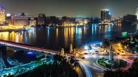 Kaïro bij nacht Royalty-vrije Stock Foto's