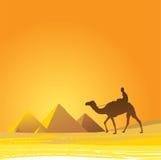 Kaïro, piramides toneel royalty-vrije illustratie