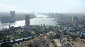 Kaïro vanaf de bovenkant, Egypte stock video