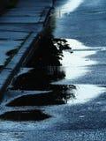 kałuże uliczne Zdjęcie Royalty Free