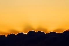 Każdy chmura srebną podszewkę Fotografia Royalty Free