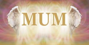 Każdy Mum jest aniołem ilustracji