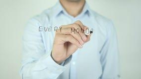Każdy Poniedziałek jest nowym szansą, Pisze Na Przejrzystym ekranie zbiory