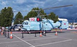 KA-31空中巡逻机船根据直升机 库存图片