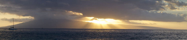 Ka'ana'pali Maui View Royalty Free Stock Photo