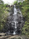 Ka'au-Krater-2. Wasserfall stockbild