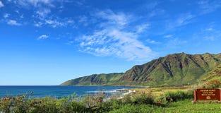 Ka'ena punktdelstatspark, Oahu, Hawaii Arkivfoton