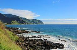 Ka'ena punktu stanu park, Oahu, Hawaje Zdjęcia Royalty Free