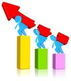 öka för affärsdiagram Arkivfoton