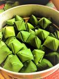 Ka Nhom TianThai DessertStuffed Dough Pyramid royalty free stock photos