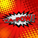 Ka-Pow! Comic Speech Bubble, Cartoon Stock Photos
