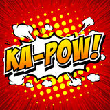 Ka-Pow! Comic Speech Bubble, Cartoon Royalty Free Stock Photo