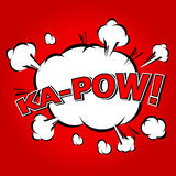 Ka-Pow! Comic Speech Bubble, Cartoon Stock Photos