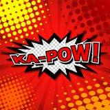 Ka-Pow! Komisk anförandebubbla, tecknad film Arkivfoton