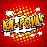 Ka-Pow! Komisk anförandebubbla, tecknad film Royaltyfri Foto