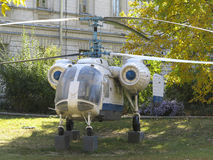 KA-26 russian double rotor helicopter Stock Photo