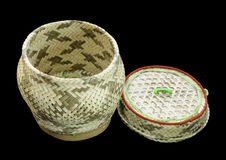 Ka tib khaw. Basketry handmade from bamboo in countrysiden stock photos