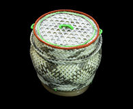 Ka tib khaw. Basketry handmade from bamboo in countrysiden royalty free stock image