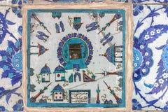 Kaaba belägger med tegel i den Rustem Pashamoskén, Istanbul Royaltyfria Bilder