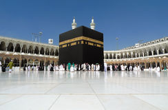 Kaaba en Mecca Wide Angle Imágenes de archivo libres de regalías