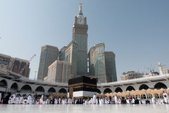 Kaaba i Mecka i den Saudiarabien ledaren royaltyfria foton
