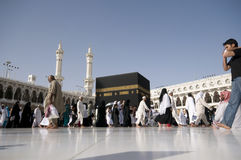 Kaaba in Makkah, Kingdom of Saudi Arabia. Royalty Free Stock Images