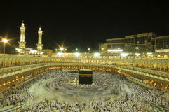Kaaba in Makkah, Kingdom of Saudi Arabia. Stock Photo