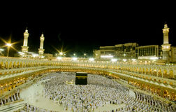 Kaaba in Makkah, Kingdom of Saudi Arabia. stock photography