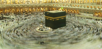 Kaaba in Makkah, Koninkrijk van Saudi-Arabië. Stock Foto's