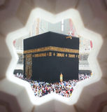 Kaaba in Mecca. A close shot of famous Kaaba in Mecca, Saudi Arabia Stock Images