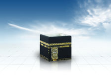 Kaaba Mecca Saudi Arabia. Against a clean sky & ground Royalty Free Stock Photo