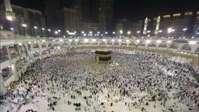 Kaaba in Mekka in de Tijdtijdspanne van Saudi-Arabië stock video
