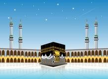 Kaaba-Moschee masjidil haram - heiliger Mekkagebäudemoslem, für Hadsch, fitr, adha, kareem lizenzfreie abbildung