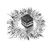 Kaaba santo en Mecca Saudi Arabia, illus dibujado mano del vector del bosquejo libre illustration
