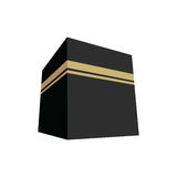 Kaaba-Vektor-Illustrations-flaches Design Stockbilder