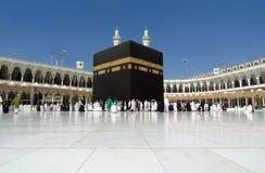 Kaaba w mekka Szerokim kącie obrazy royalty free