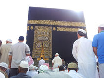 Kaabah. MECCA, SAUDI ARABIA - MAC 24 2012 : Waiting for pray together in front of Kaabah Stock Images