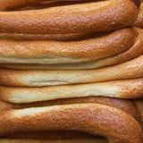 Kaak traditionnel Beigeles s'est vendu sur le vieux marché à Jérusalem, Israël image libre de droits